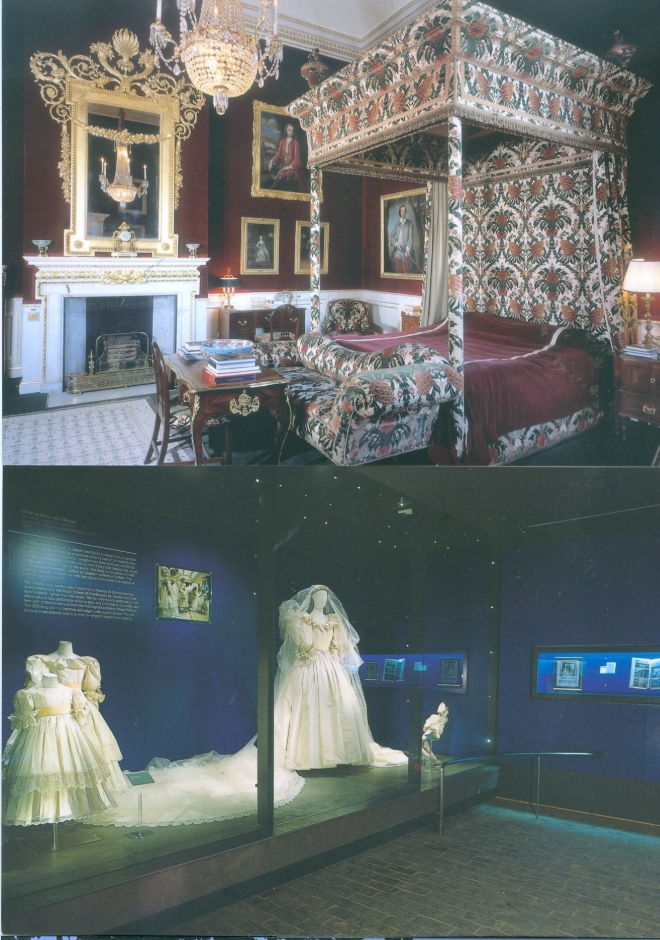 Diana's Wedding Dress and Marlborough Room Althorp