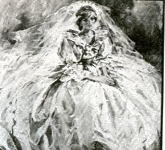 Wedding Dress Oil Painting