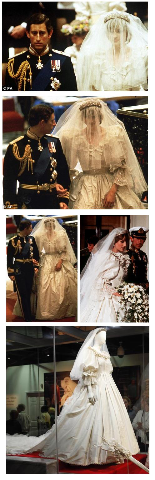 princess diana wedding gown. Side view Princess Diana#39;s
