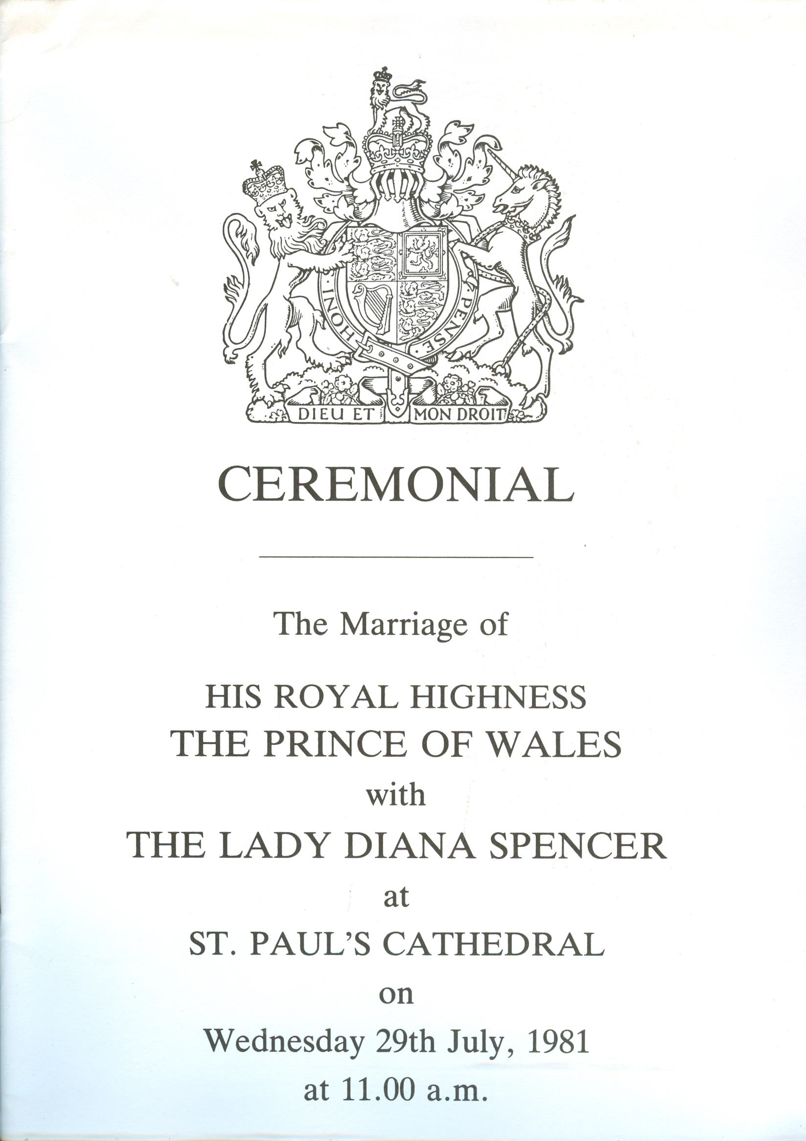 Wedding Ceremonial 4 Royal Wedding – Princess Diana News Blog