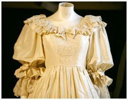 Detail Of Diana S Wedding Dress Bodice Princess Diana News Blog