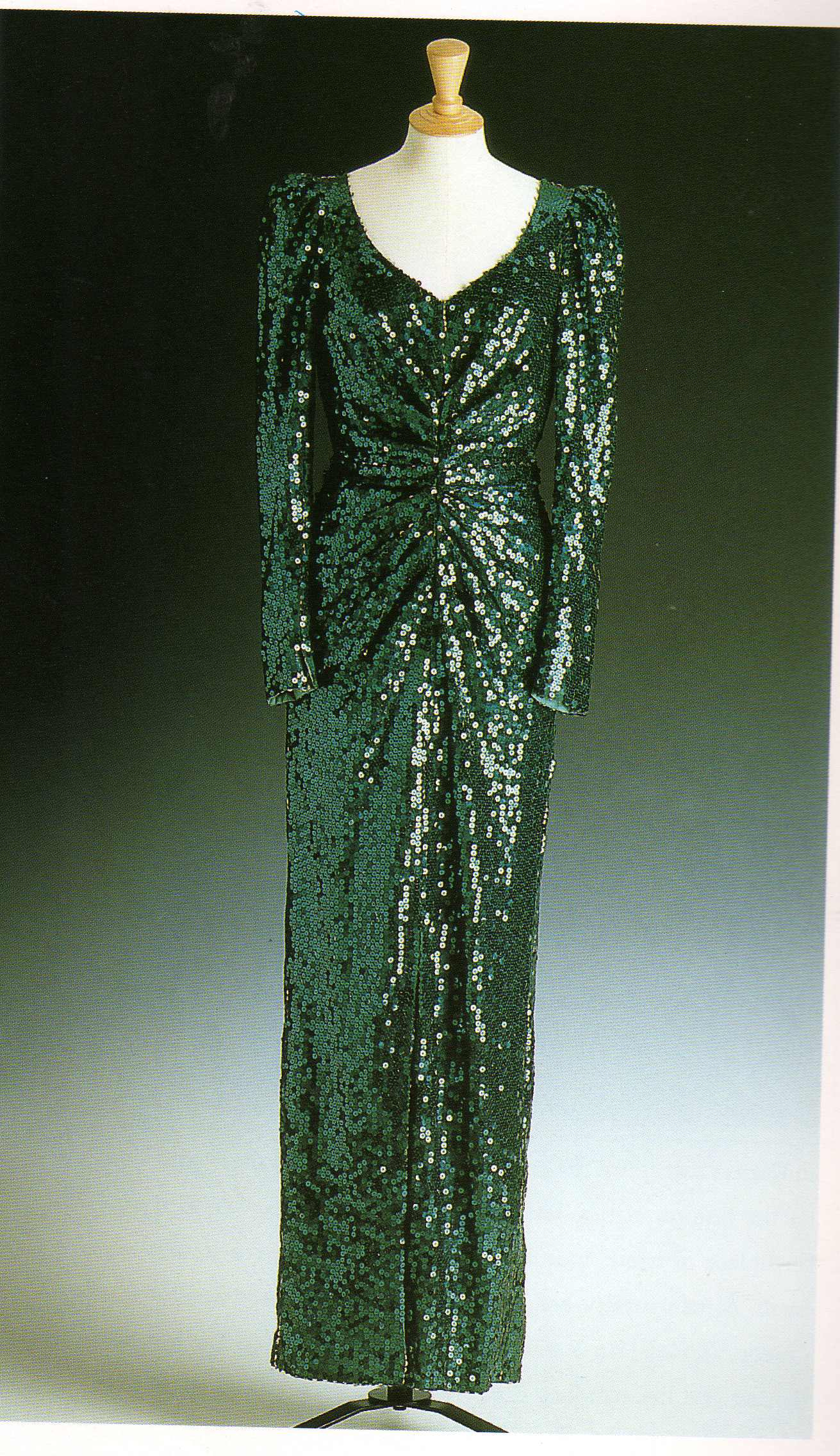 Mermaid Dress: Petrol Green sequin gown by Catherine Walker 1986 ...