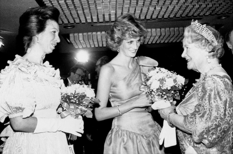 Princess Diana, Princess Anne and the Queen Mother c. 1990 ...