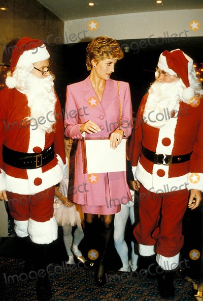 Princess Diana & Two Santas