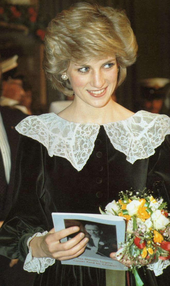 Diana attends a Christmas Concert In Manchester England 1984