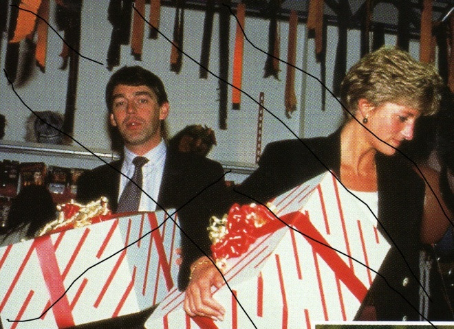 Memories of Christmas: Diana buying presents for William and Harry 1992 London