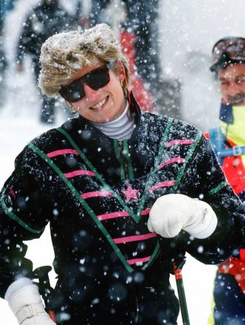 Princess Diana Skiing Holiday Lech, 1993