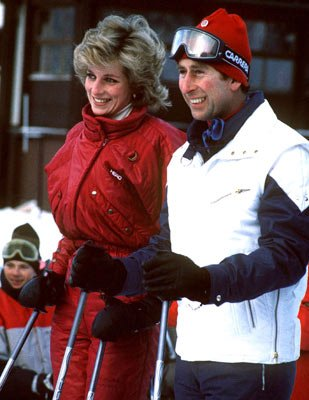 Charles and Diana Skiing January 1985 Leichtenstein