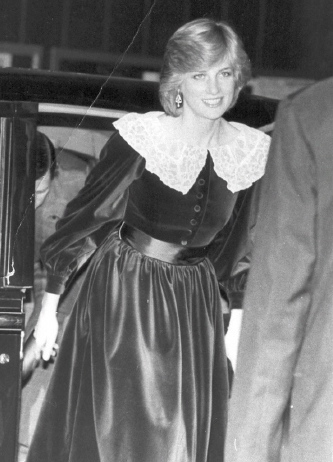 Princess Diana 1983 London premiere with Prince Charles