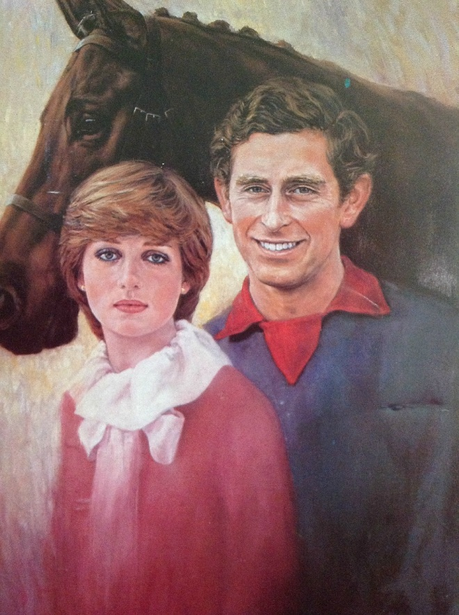 RARE ENGAGEMENT PAINTING 32 YEARS AGO, FEBRUARY 24, 1981