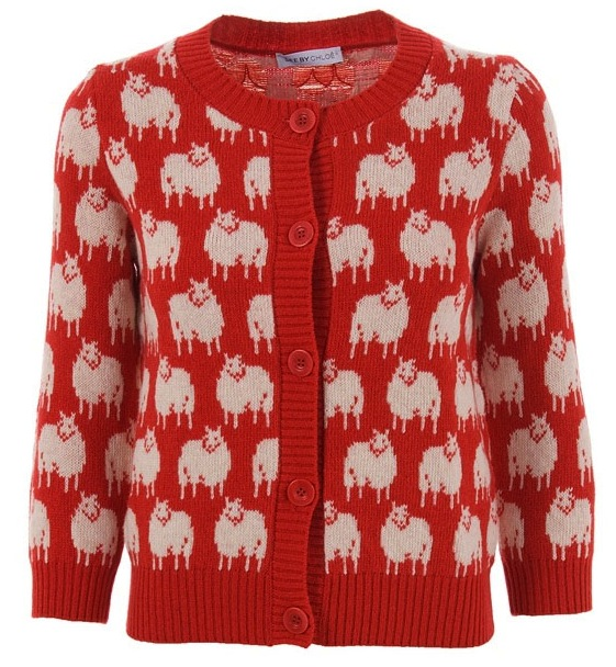 THE SHEEP DESIGNER CARDIGAN: SEE BY CHLOE