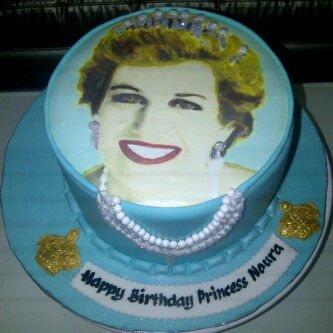 PRINCESS DIANA BIRTHDAY CAKE - HAPPY BIRTHDAY NOURA!