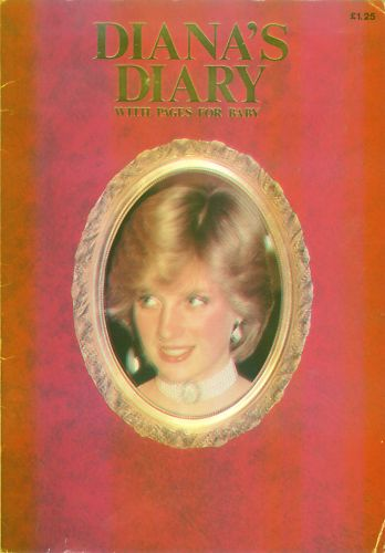 Vintage Diana's Diary with Pages for Baby!