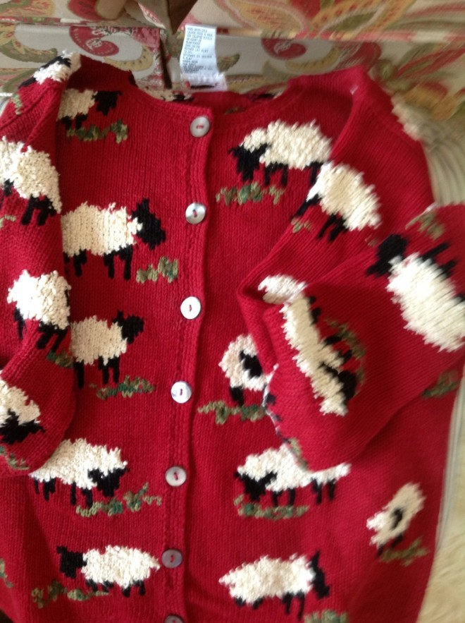 The Red White Sheep Cardigan!