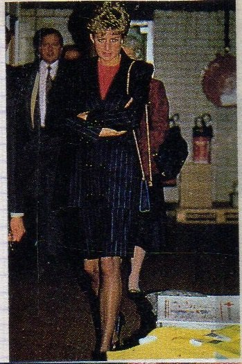 A LOOK BACK TO JANUARY 19, 1993 PRINCESS DIANA VISITS THE BRITISH RED CROSS AID OPERATION IN LONDON