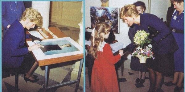 22 JANUARY 1991 PRINCESS DIANA VISITS PETERBOROUGH; VISIT ENSHRINED IN PETERBOROUGH BOOK OFDAYS!