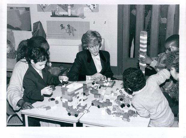 22 JANUARY 1987 Princess Diana Visits The Dr Barnado's St John's Day Care Centre In Brixton SouthLondon
