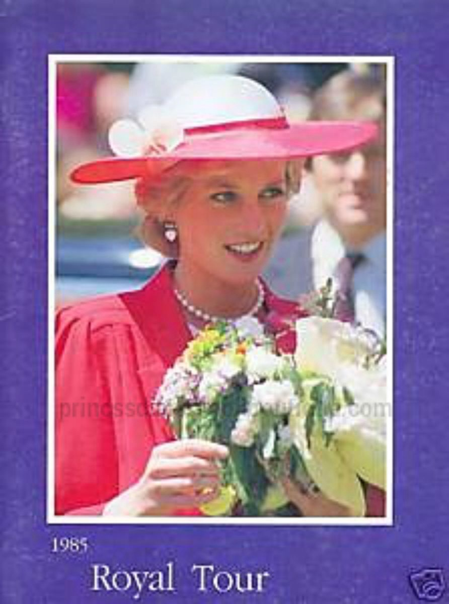 Princessdianabookboutique Com: PRINCESS DIANA OUR COLLECTIBLE OF THE DAY: 1985 ROYAL TOUR