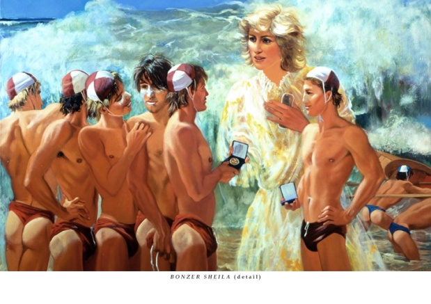 31 JANUARY 1988 THE PRINCESS OF TIDES – DIANA SHINES AT THE SURF CARNIVAL AT TERRIGAL BEACH