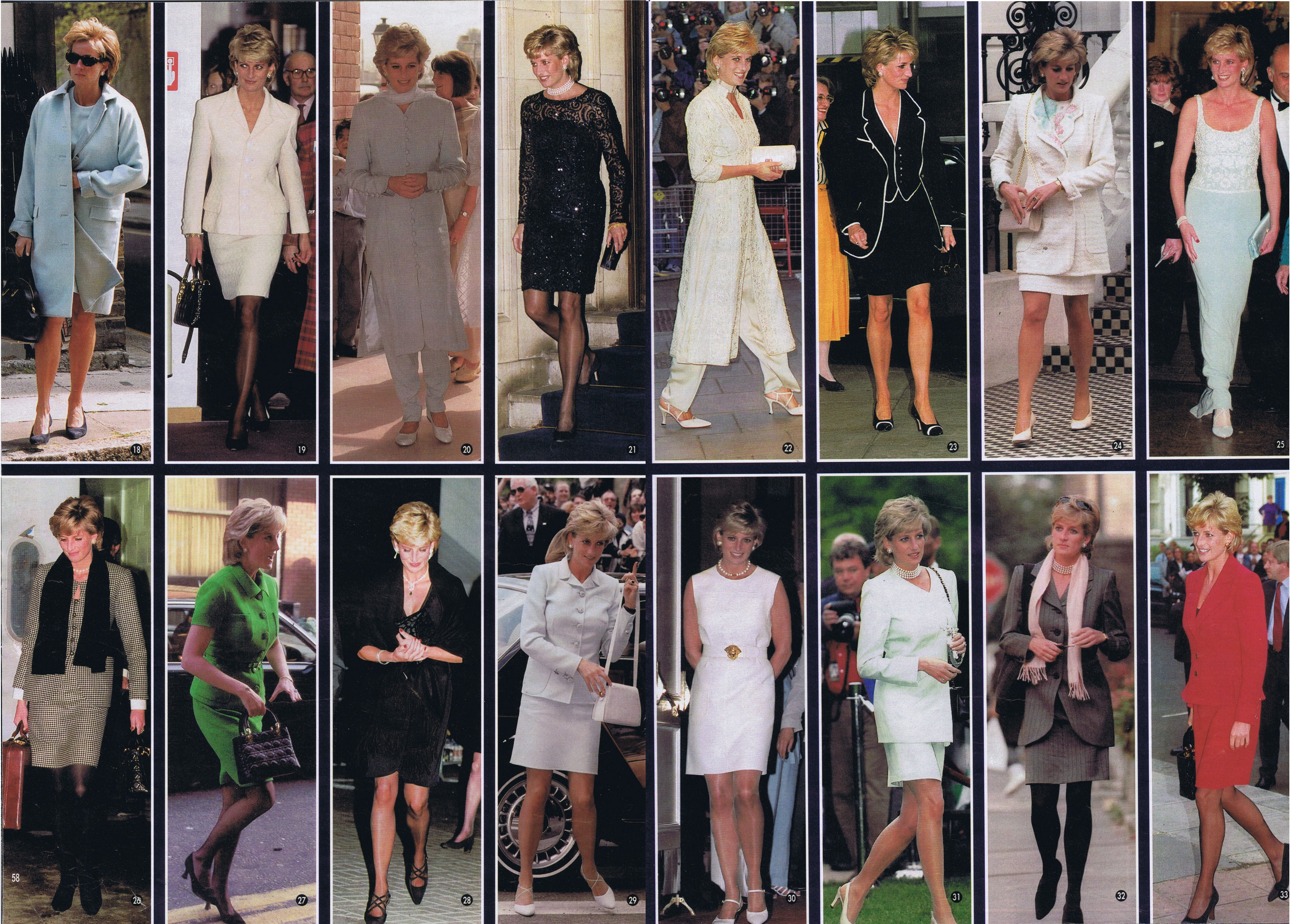 January 1997 Princess Diana Best Worst Fashions For 1996
