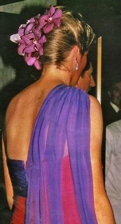 Evening Splendour Princess Diana In A Fuchsia Amp Violet