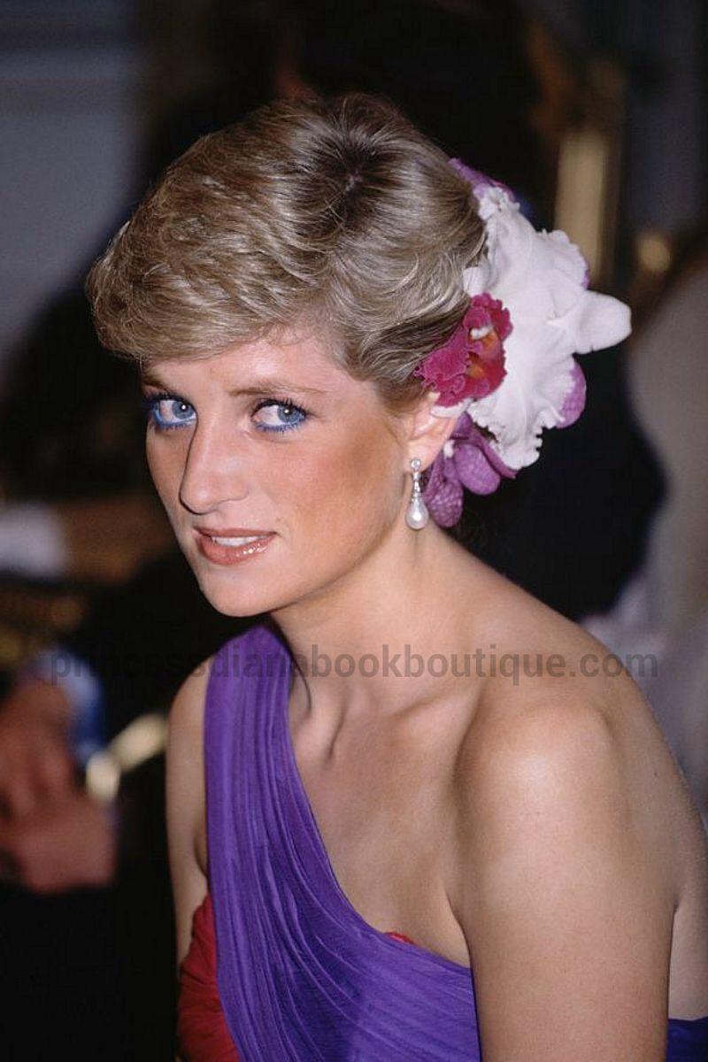 Evening splendour princess diana in a fuchsia violet for Princess diana new photos