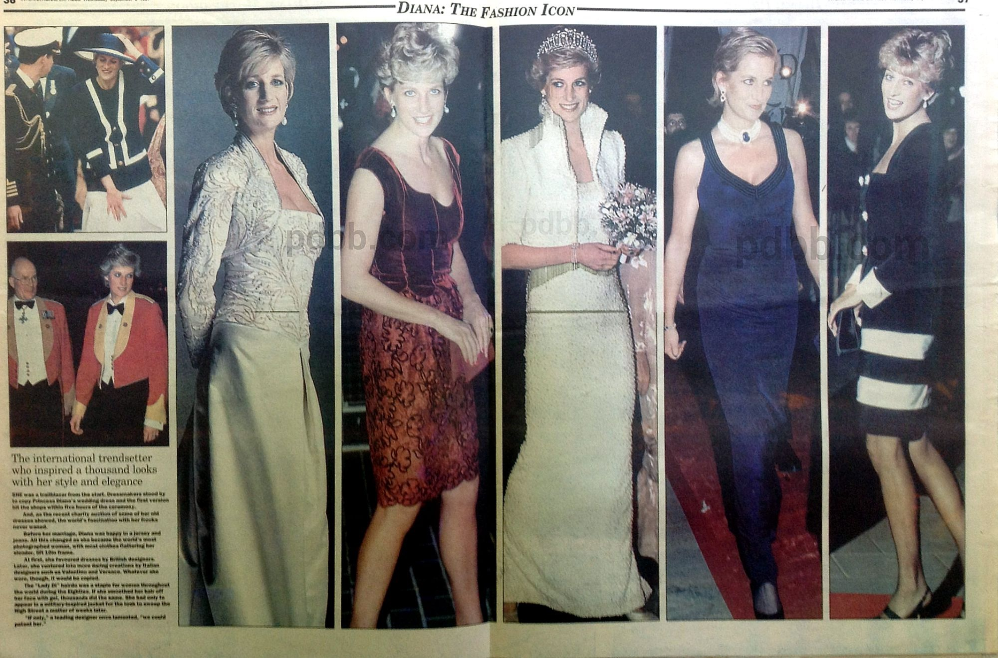 our princess diana in the press fashion article today is