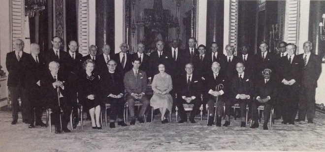First ever photo of a Privy Council taken on 27 March 1981 after consent was given to Prince Charles' marriage