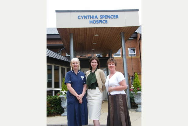 Diana's sister-in-law, Karen, now Countess Spencer, visiting the Hospice in 2014