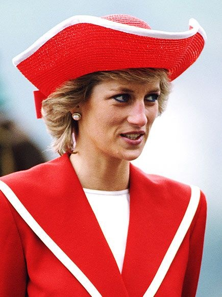 6 APRIL 1989 PRINCESS DIANA DRESSES FOR THE NAVAL OCCASION AS SHE ATTENDS THE ANNUAL PASSING OUT PARADE AT BRITANNIA ROYAL NAVAL COLLEGE DARTMOUTH