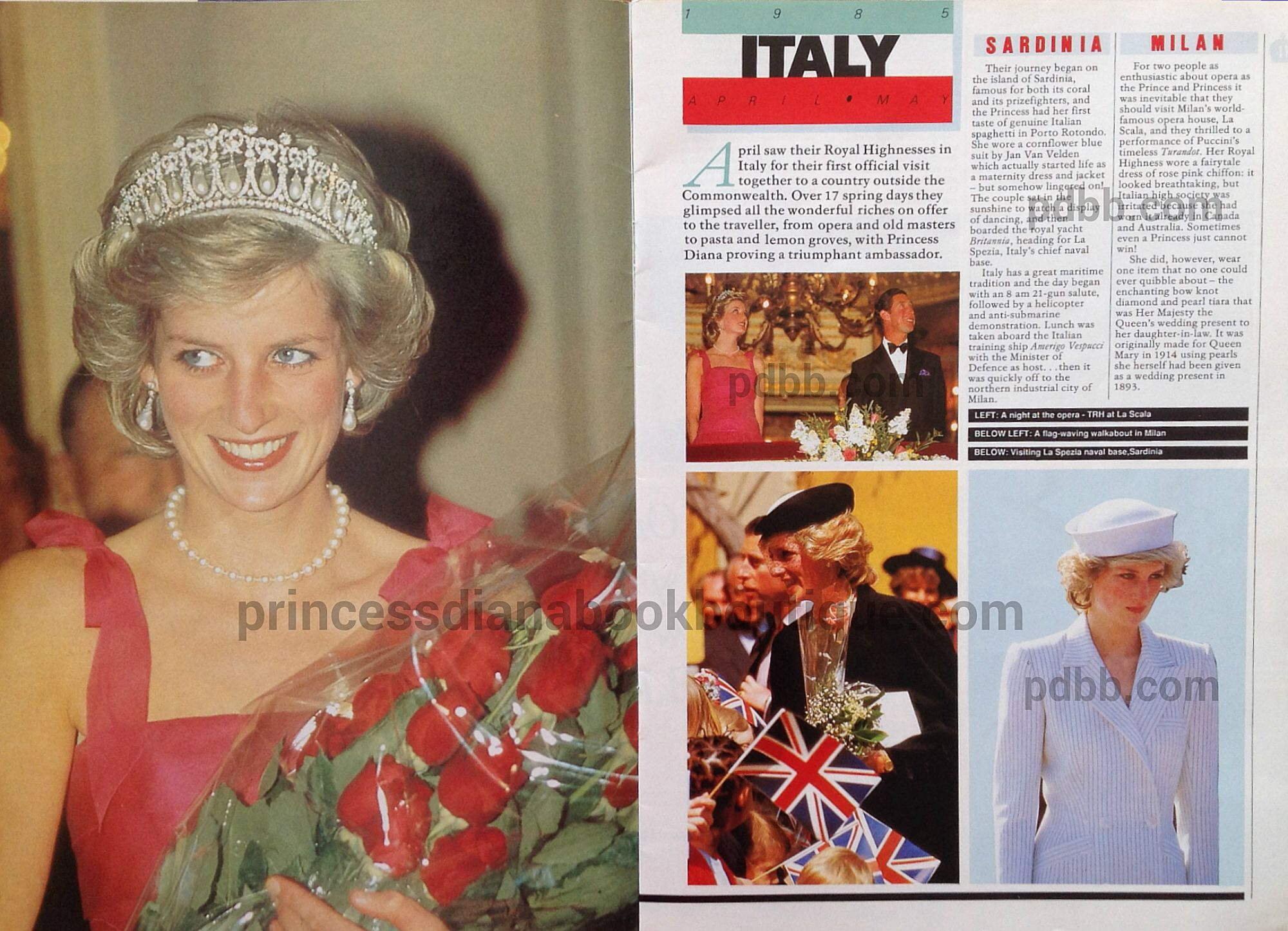 PORTO ROTONDO, SARDINIA — Britain`s Prince Charles and Princess Diana,  beginning a 17-day tour of Italy, were welcomed by thousands of cheering,  flag-waving ... 586ad69b9d