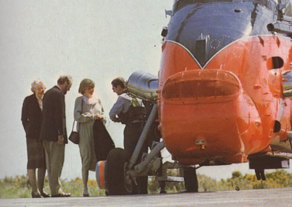 April 20, 1982: Prince Charles and Princess Diana arrive by helicopter for a private visit to St Mary's on the Scilly Isles.
