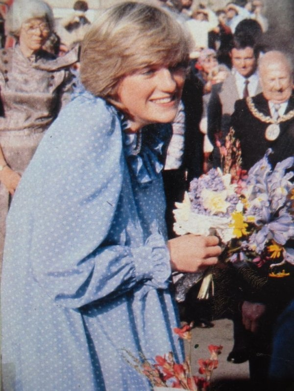 Diana on a walkabout in St. Mary's April 20, 1982