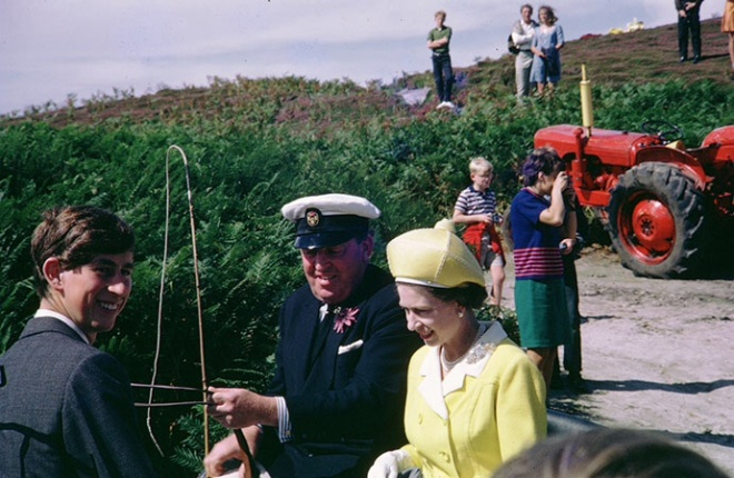 Prince Charles with the Queen in Tresco c.1970