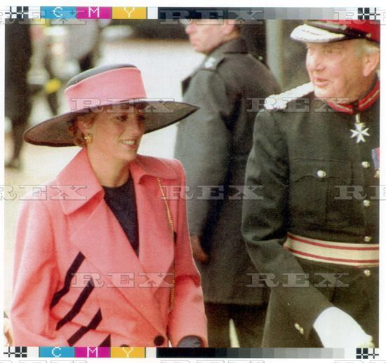 30 APRIL 1992 PRINCESS DIANA IN BARROW-IN-FURNESS TO NAME THE HMS VANGUARD