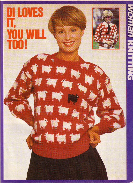 Sheep Knitting A Sweater : Princess diana sheep sweater news