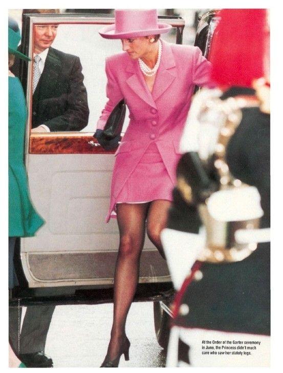 14 JUNE 1993 PRINCESS DIANA PARTICIPATES IN HER LAST ORDER OF THE GARTERCEREMONY