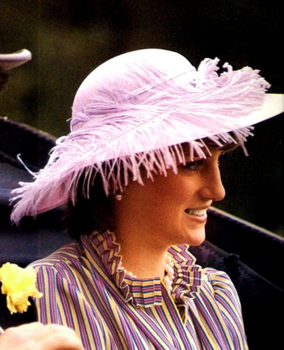 """16 JUNE 1981 LADY DIANA SPENCER AT ASCOT:  """"A LOVELY DI AT THERACES"""""""