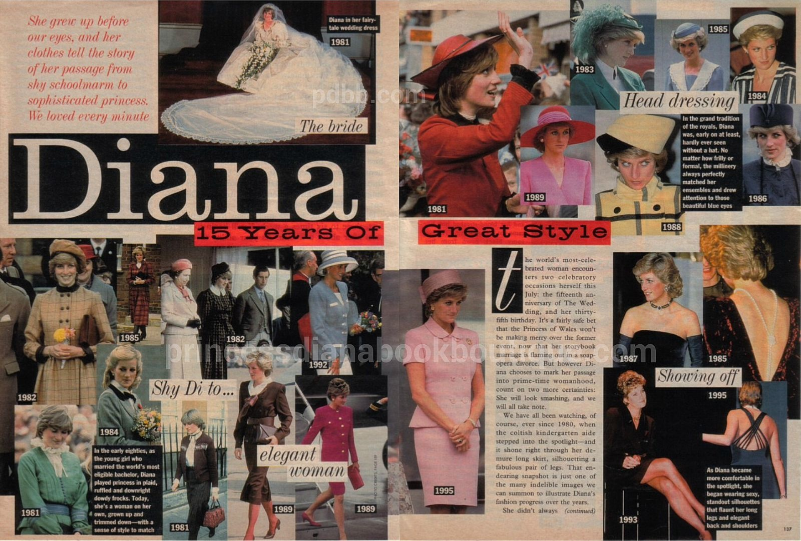 Our Princess Diana Fashion Article Today 15 Years Of Great Diana Style Part I Princess Diana