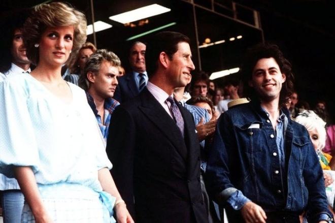 The couple with Bob Geldorf