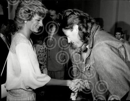 Meeting Bob Geldorf, the organizer of the concert
