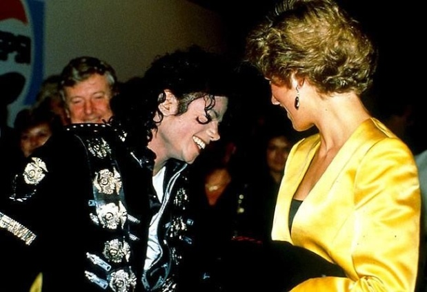 16 JULY 1988 PRINCE CHARLES & PRINCESS DIANA ATTEND A MICHAEL JACKSON CONCERT IN AID OF THE PRINCE'S TRUST WISHING WELL APPEAL