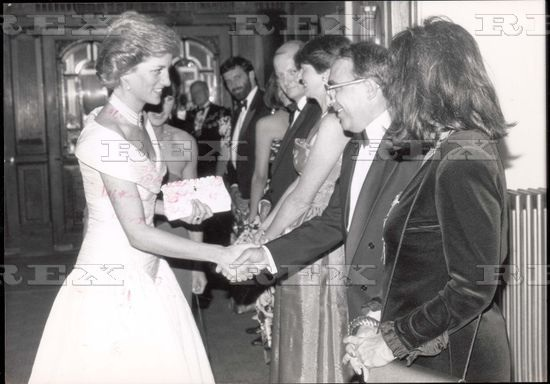 Mail On Sunday Editor Stewart Stevens And His Wife With Princess Diana.