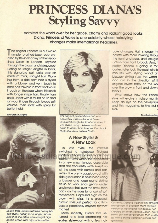 OUR PRINCESS DIANA FASHION ARTICLE TODAY STYLING SAVVY