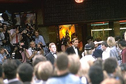 Actor William Baldwin seen entering the theatre