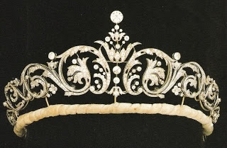 Sarah's diamond diadem tiara from Garrard's