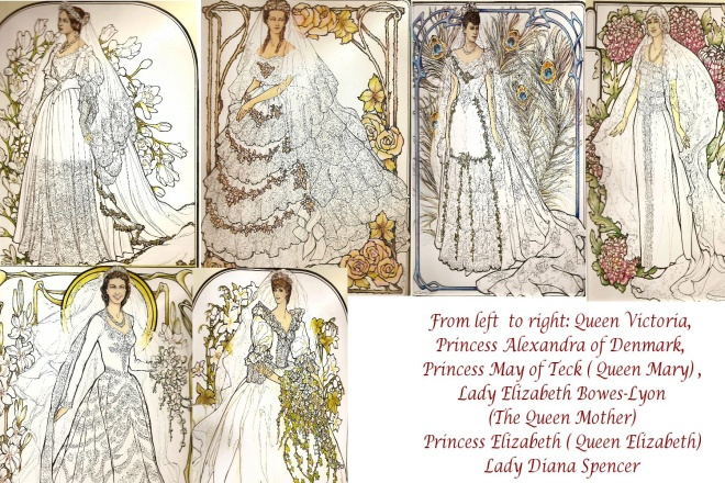 A History of Royal Wedding Gown Sketches