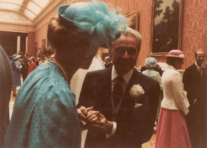 Princess Alexandra in turquoise