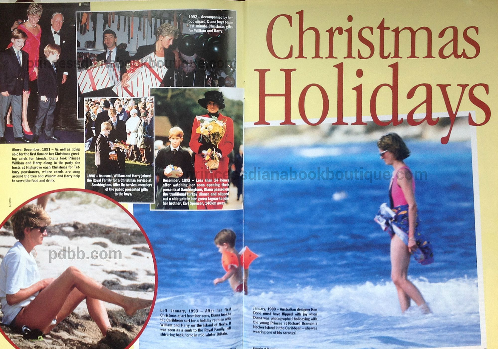 "MEMORIES OF PRINCESS DIANA AT CHRISTMAS; ""CHRISTMAS HOLIDAYS""- OUR ..."