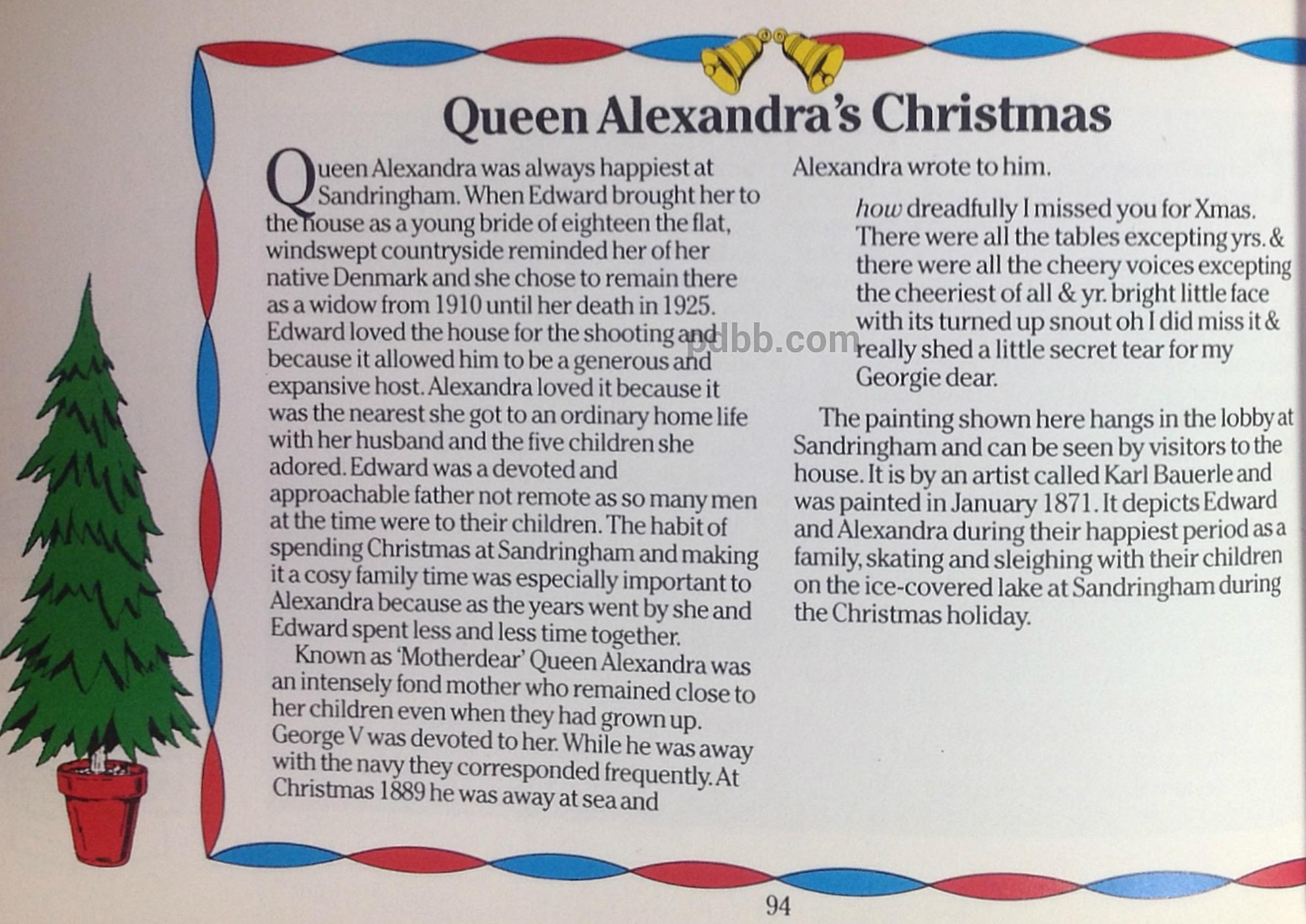 Christmas Articles.Queen Alexandra S Christmas Our Princess Diana 12 Days Of